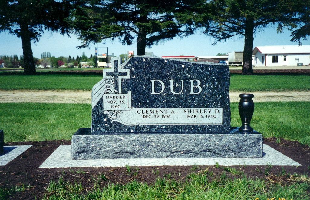 Double monuments double headstone designs